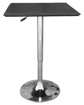 cumbria black square adjustable table