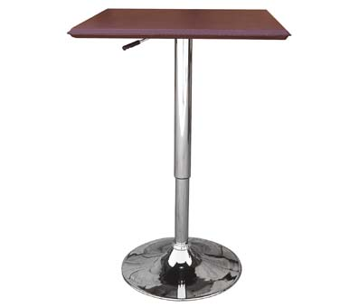 cumbria table square black top height adjustable