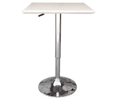 cumbria table square white top height adjustable