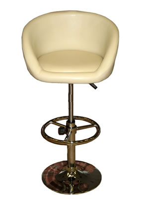 Lopis cream faux leather swivel adjustable breakfast kitchen bar stool