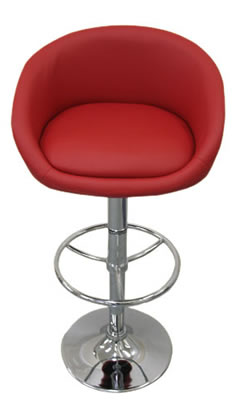 Pastonu kitchen bar stool red faux leather cup seat very comfortable
