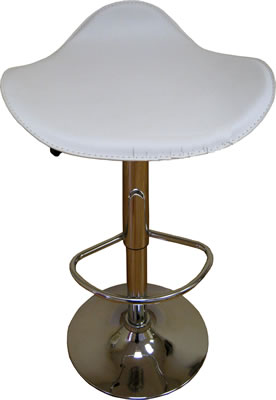 Curvy faux leather white breakfast kitchen bar stools