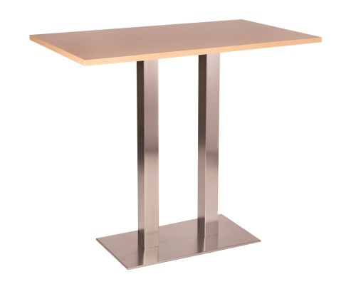 Daniella Stainless Steel Large Twin Base Poseur Base with Tops in Various Finishes and Sizes