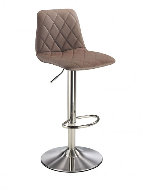 Dioson brushed chrome kitchen breakfast bar stools charcoal, brown and tan