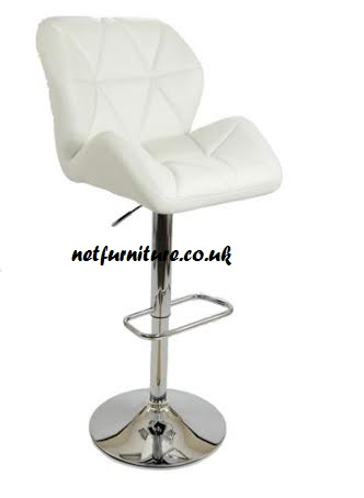 Alia Bar Stool - Chrome and Faux Leather in Choice of Colours