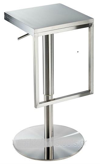 Minimalist Stainless Steel Bar Stool, Height Adjustable.