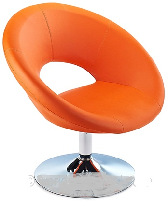 Pharoh Funky Chair - Orange, Padded Swivel Seat, with Unique Design