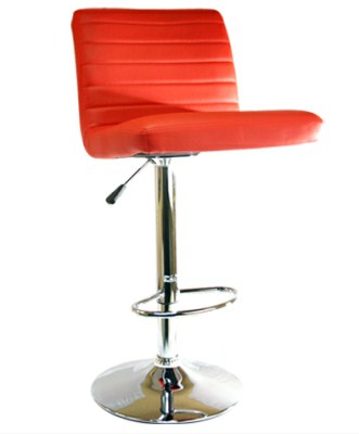 Ellie Faux Leather and Chrome Stool - Adjustable and Swivel