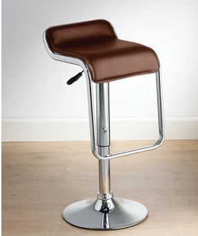 Fay Brown Kitchen Bar Stool Padded Seat and Footrest