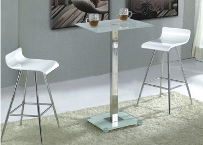 Frosted Glass Trine Bar Table