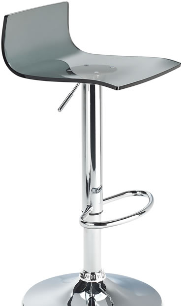 Langsley Funky Acrylic Adjustable Bar Stool Tinted Black