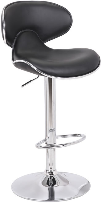 Planet Kitchen Breakfast Bar Stool - Black Padded Seat Height Adjustable