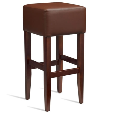 Emerald Kitchen Bar Stool - Dark Walnut Frame with Padded Seat - Brown - Fully Assembled