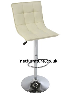 Gen Padded Stool Chrome and Faux Leather