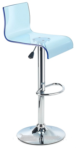 Snazzy Acrylic Adjustable Kitchen Bar Stool With Swivel