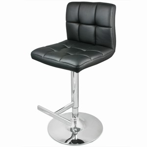 Prill black bar stool