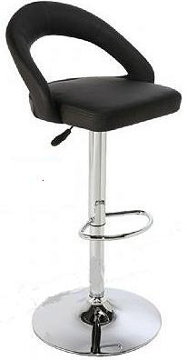 Callie Adjustable Stool - Steel and Faux Leather