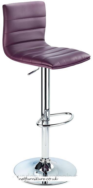 Horizon Padded Bar Stool Height Adjustable Purple