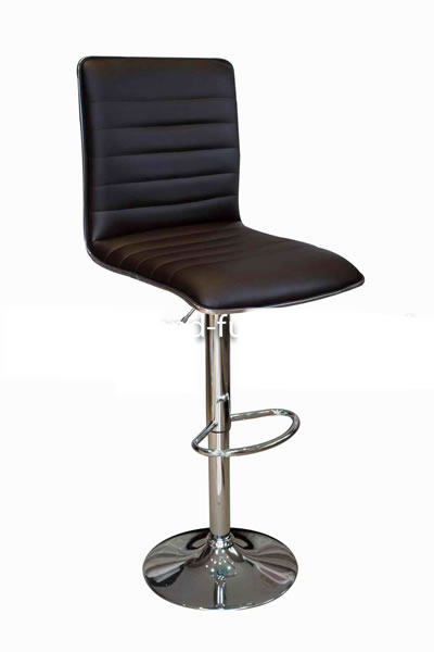 Top Line Bar Stool Brown Padded Seat and Back Height Adjustable
