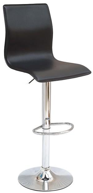 Conrad Black Seat And Back Kitchen Bar Stool Height Adjustable