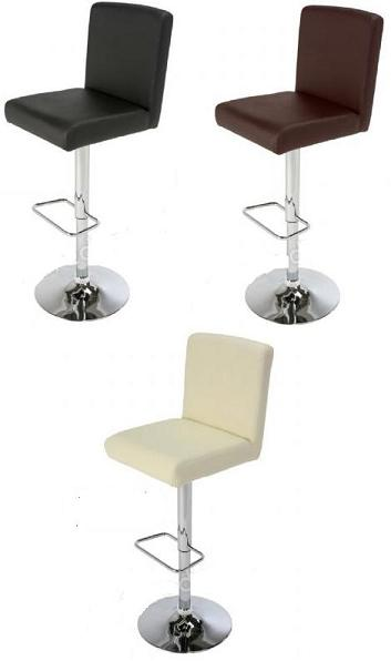 Paris Padded Stool Chrome and Faux Leather