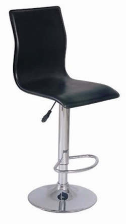saboy kitchen black seat bar stool height adjustable