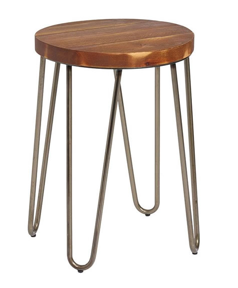 Clopon Low Industrial style bar stool