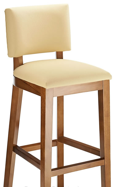 Jamocca Bar Stool Wooden Frame Fixed Height Bar Stool