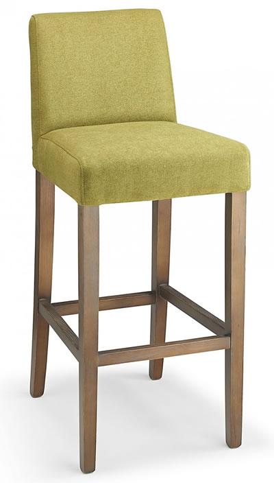 Farzom green fabric seat kitchen breakfast bar stool wooden frame fully assembled
