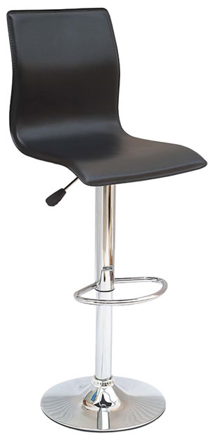 mostone swivel kitchen stool full modern black padded back rest adjustable bar stool 1113