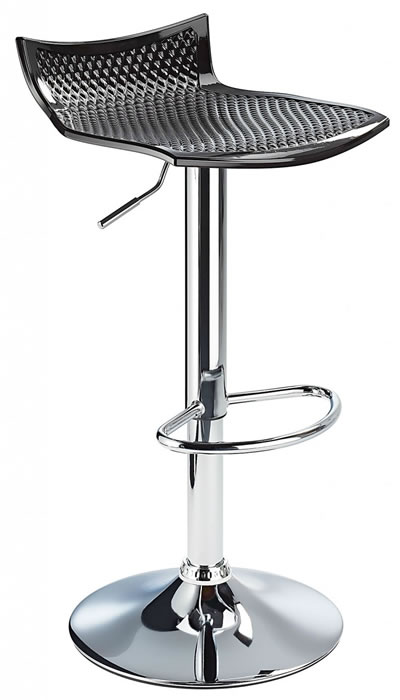 Blezing Black Modern Kitchen Bar Stool Height Adjustable
