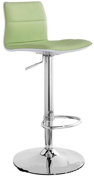 Misty Kitchen Breakfast Bar Stool, With Faux Leather Adjustable Seat