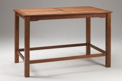 Lind Wood Rectangular Bar Table - Indoor/Outdoor