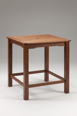 Lind Wood Square Bar Table - Indoor/Outdoor