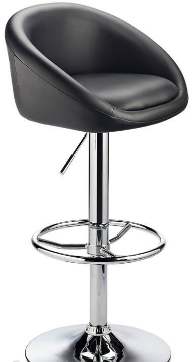 Lombardy Real Leather Kitchen Bar Stool Padded Seat Adjustable Height Chrome Frame 4 Colours
