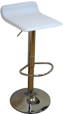 Lowcome faux leather white breakfast kitchen bar stools