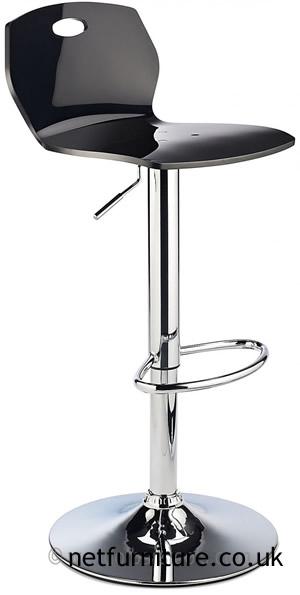 Laney ABS Retro Plastic Bar Stool, Height Adjustable - Black