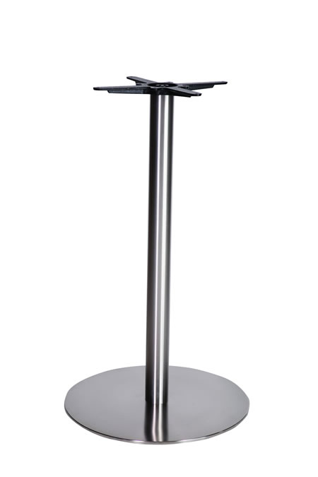 Marla stainless steel brushed table base made to measure size dining, poseur, coffee bases