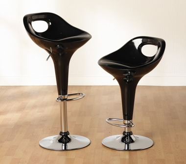 amy bar stool in black