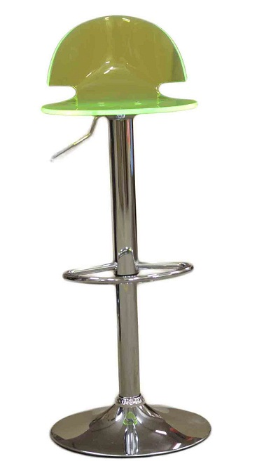 Celestial Lime Green Kitchen Breakfast Bar Stool Perspex Transparent Height Adjustable