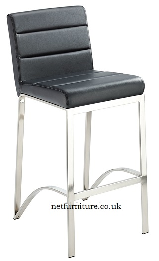 Duncan Fixed Height Brushed Steel frame with padded seat