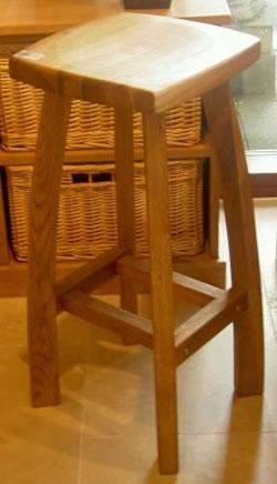 Detay wooden oak,walnut black or grey kitchen breakfast bar stool