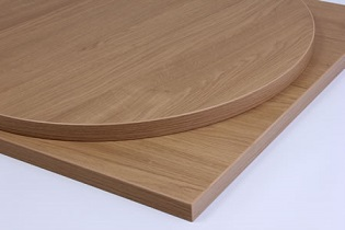 Taybon Laminate Oak Table Top - round, square, rectangular, small, large table tops