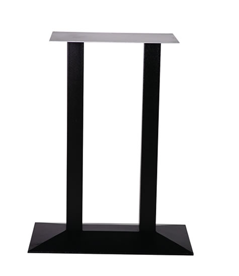 quanto twin cast iron black rectangular table base made to measure size dining, poseur, coffee bases - commercial quality