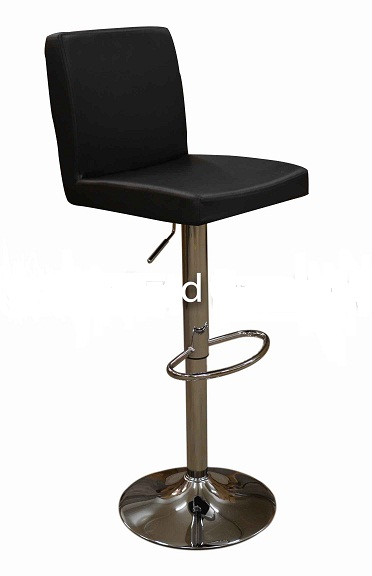 Siam Black Kitchen Breakfast Bar Stool Padded Seat And Back Height Adjustable