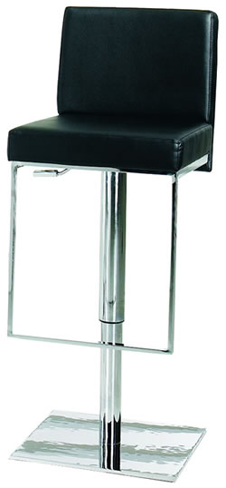 mostonony kitchen bar stool black padded adjustable height with unique footrest
