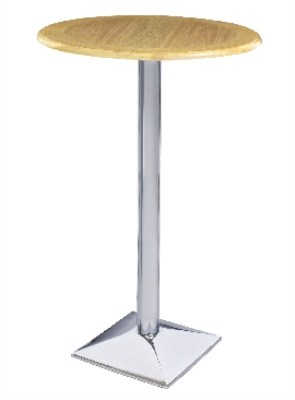 Stran Chrome and Wood Poseur - Round