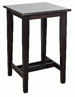 Flank Wood Poseur Table - Square