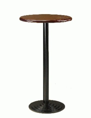 Sant Cast Iron and Wood/Werzalit Poseur Table - Round