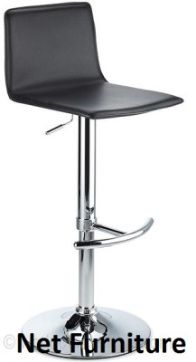 Pota Chrome and PVC Bar Stool - Adjustable